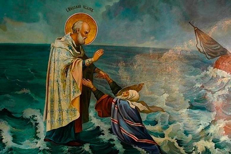 Николай Чудотворец в море