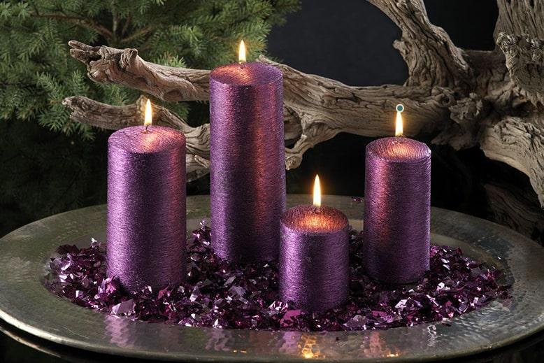 фиолетовые свечи