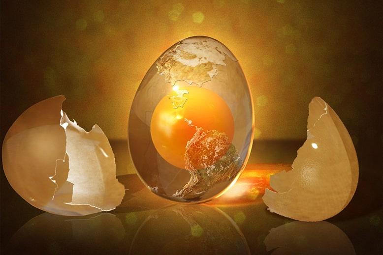 порча на яйце